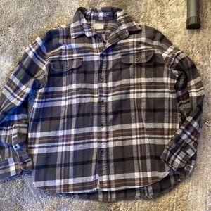 Jachs long sleeved black/gray/camel/white flannel